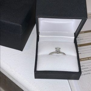 1CT Diamond Ring with a white gold band